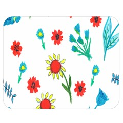 Flowers Fabric Design Double Sided Flano Blanket (medium)  by BangZart