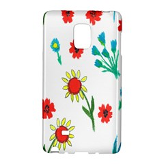 Flowers Fabric Design Galaxy Note Edge by BangZart
