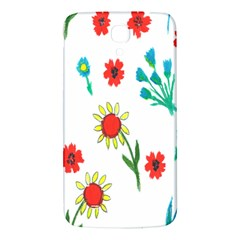 Flowers Fabric Design Samsung Galaxy Mega I9200 Hardshell Back Case by BangZart
