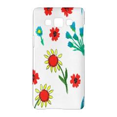 Flowers Fabric Design Samsung Galaxy A5 Hardshell Case