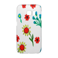 Flowers Fabric Design Galaxy S6 Edge by BangZart