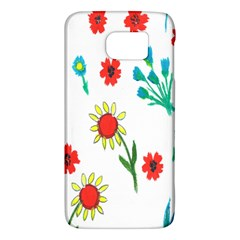 Flowers Fabric Design Galaxy S6 by BangZart