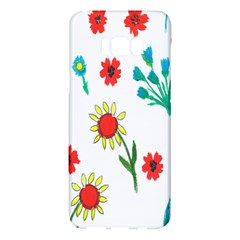 Flowers Fabric Design Samsung Galaxy S8 Plus Hardshell Case