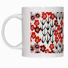 Simple Japanese Patterns White Mugs