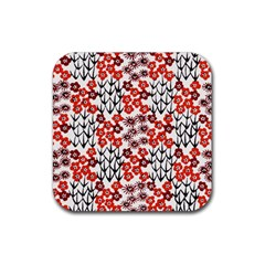 Simple Japanese Patterns Rubber Square Coaster (4 Pack)  by BangZart