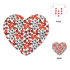 Simple Japanese Patterns Playing Cards (heart)  by BangZart