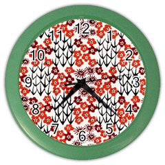 Simple Japanese Patterns Color Wall Clocks