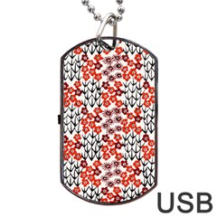 Simple Japanese Patterns Dog Tag Usb Flash (one Side)