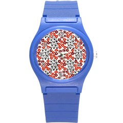Simple Japanese Patterns Round Plastic Sport Watch (s) by BangZart