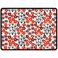 Simple Japanese Patterns Double Sided Fleece Blanket (large)  by BangZart