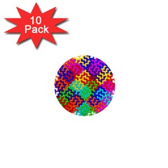 3d Fsm Tessellation Pattern 1  Mini Magnet (10 Pack)