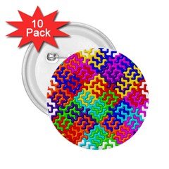 3d Fsm Tessellation Pattern 2 25  Buttons (10 Pack)  by BangZart