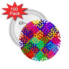 3d Fsm Tessellation Pattern 2 25  Buttons (100 Pack)