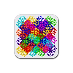 3d Fsm Tessellation Pattern Rubber Square Coaster (4 Pack)  by BangZart