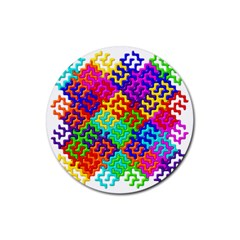3d Fsm Tessellation Pattern Rubber Coaster (round)  by BangZart