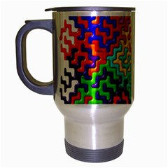 3d Fsm Tessellation Pattern Travel Mug (silver Gray) by BangZart