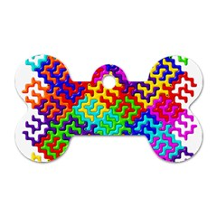 3d Fsm Tessellation Pattern Dog Tag Bone (two Sides) by BangZart
