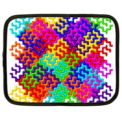 3d Fsm Tessellation Pattern Netbook Case (large) by BangZart