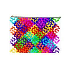 3d Fsm Tessellation Pattern Cosmetic Bag (large)  by BangZart