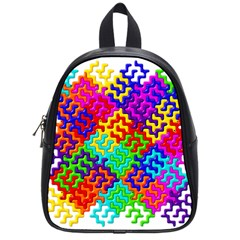 3d Fsm Tessellation Pattern School Bags (small)  by BangZart