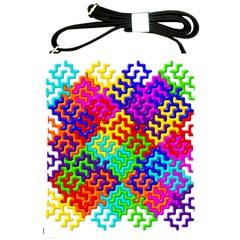 3d Fsm Tessellation Pattern Shoulder Sling Bags by BangZart