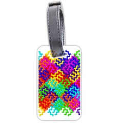 3d Fsm Tessellation Pattern Luggage Tags (two Sides)