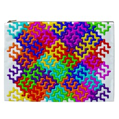 3d Fsm Tessellation Pattern Cosmetic Bag (xxl)