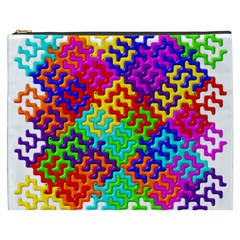 3d Fsm Tessellation Pattern Cosmetic Bag (xxxl)  by BangZart