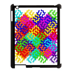 3d Fsm Tessellation Pattern Apple Ipad 3/4 Case (black)