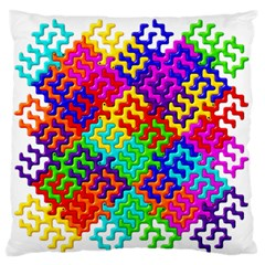 3d Fsm Tessellation Pattern Large Flano Cushion Case (two Sides) by BangZart
