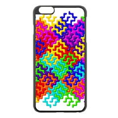3d Fsm Tessellation Pattern Apple Iphone 6 Plus/6s Plus Black Enamel Case by BangZart