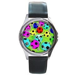 Balls Colors Round Metal Watch by BangZart