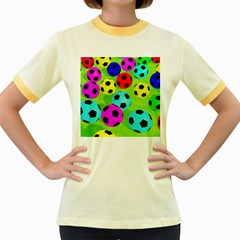 Balls Colors Women s Fitted Ringer T Shirts by BangZart