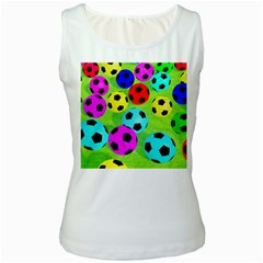 Balls Colors Women s White Tank Top by BangZart