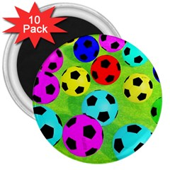 Balls Colors 3  Magnets (10 Pack)  by BangZart