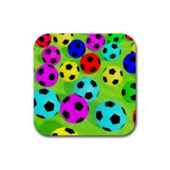 Balls Colors Rubber Coaster (Square)