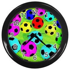 Balls Colors Wall Clocks (black)