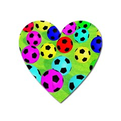 Balls Colors Heart Magnet by BangZart