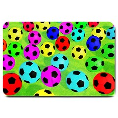 Balls Colors Large Doormat  by BangZart
