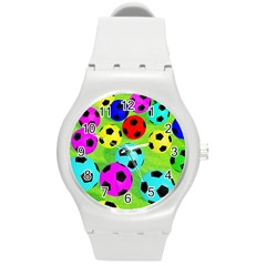 Balls Colors Round Plastic Sport Watch (m) by BangZart