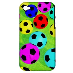 Balls Colors Apple Iphone 4/4s Hardshell Case (pc+silicone) by BangZart