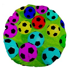 Balls Colors Large 18  Premium Round Cushions by BangZart