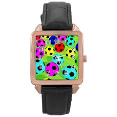 Balls Colors Rose Gold Leather Watch  by BangZart