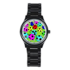 Balls Colors Stainless Steel Round Watch by BangZart