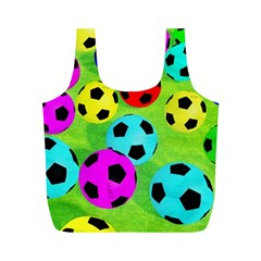 Balls Colors Full Print Recycle Bags (m)
