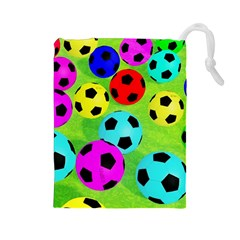 Balls Colors Drawstring Pouches (large)  by BangZart