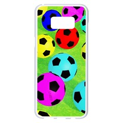 Balls Colors Samsung Galaxy S8 Plus White Seamless Case