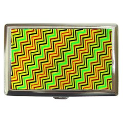 Green Red Brown Zig Zag Background Cigarette Money Cases by BangZart