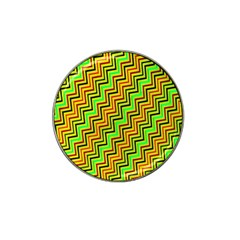 Green Red Brown Zig Zag Background Hat Clip Ball Marker (10 Pack) by BangZart
