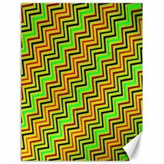 Green Red Brown Zig Zag Background Canvas 18  X 24